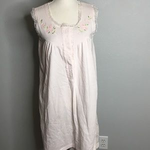 J.I.T. Sleep Collection Pink Cotton Granny Gown M